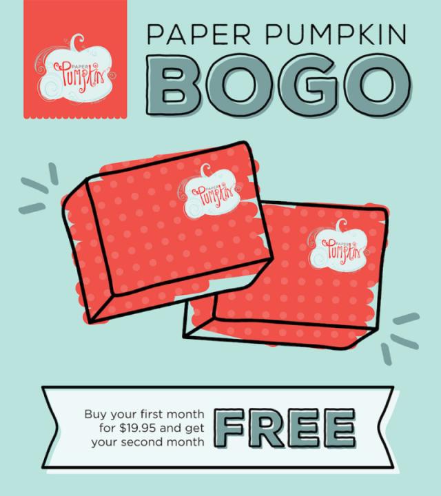 StampinUp Paper Pumpkin Promotion BOGO Details at BeyondBeachesandBlessings.com #beyondbeachesandblessings