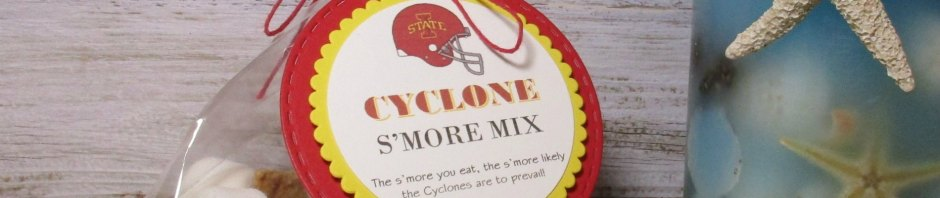 "StampinUp 3D Favor made with 2"" Punch, Layering Circles Die, and Dimensionals, designed by demo Lynn Tague. See more cards and gifts ideas at BeyondBeachesandBlessings.com #BeyondBeachesandBlessings #IowaState #Cyclones #Football"