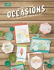 StampinUp, 2017 Occasions Catalog, demo Lynn Tague. See more cards and gift ideas at BeyondBeachesandBlessings.com #BeyondBeachesandBlessings