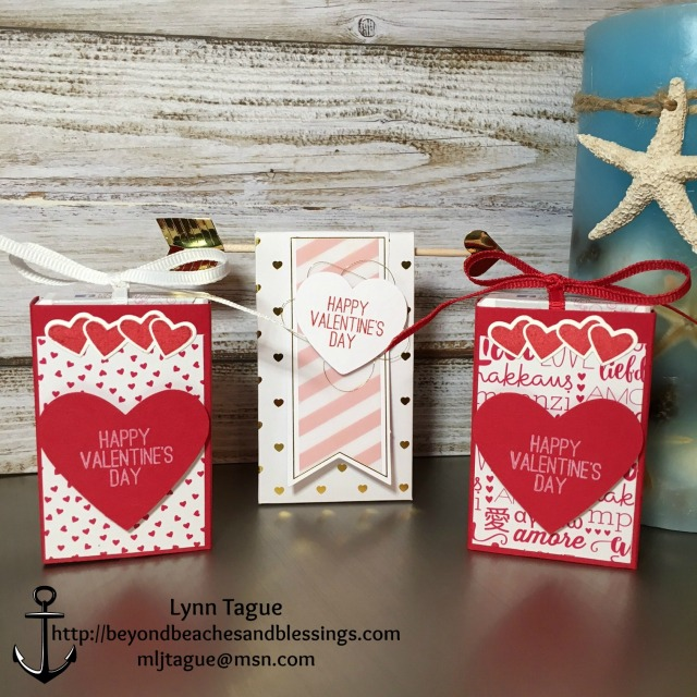 Stampin Up, Valentine Treat Bag, January 2017 Paper Pumpkin, Sending Love Designer Series Paper (DSP) Stack, Sealed with Love Bundle, Sending Love Suite, Sending Love Ribbon Combo Pack, Designed by Demo Lynn Tague. More cards and gift ideas at BeyondBeachesandBlessings.com, #BeyondBeachesandBlessings