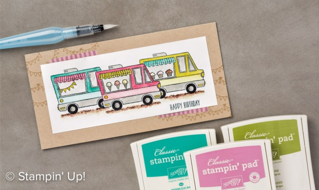 Stampin Up, Sale-A-Bration, SAB, Tasty Truck stamp set samples, Demo Lynn Tague, See cards and gifts ideas at BeyondBeachesandBelssings.com #BeyondBeachesandBlessings