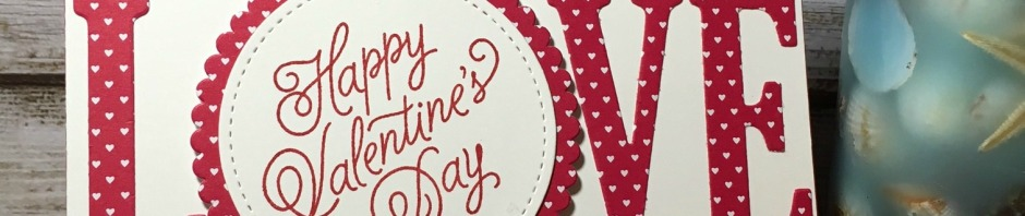 Stampin Up, CAS, Valentine Card, Sealed With Love Bundle, Layering Circles Framelits, Stitched Shapes Framelits, Large Letters Framelits, designed by Demo Lynn Tague, See more cards and gifts ideas at BeyondBeachesandBlessings.com #BeyondBeachesandBlessings