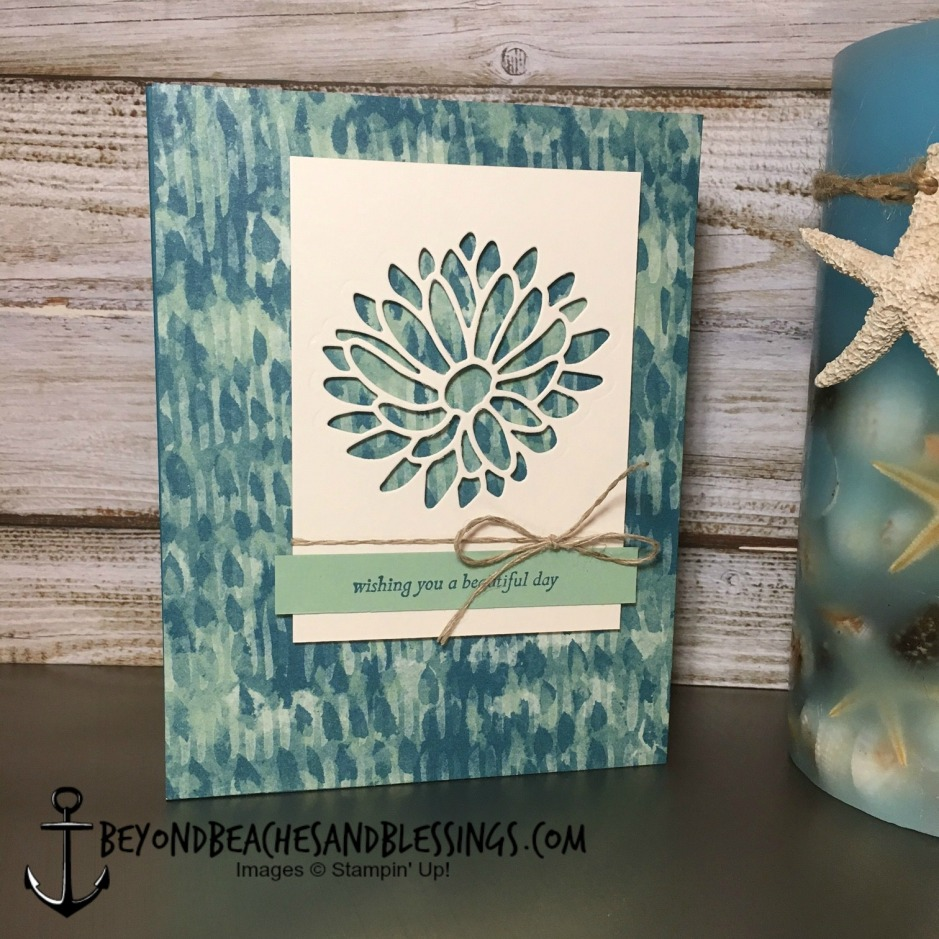 Stampin Up, CAS, Birthday Card, Special Reason Bundle, Blooms & Bliss Designer Series Paper, designed by Demo Lynn Tague, See more cards and gifts ideas at BeyondBeachesandBlessings.com #BeyondBeachesandBlessings